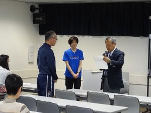 第9回ロコモン体操講習会 ロコモン体操パートナー授与